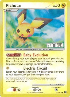 pokemon-burger-king-rare-collectible-card-platinum-pichu-holo-45-100-by-pokemon-center