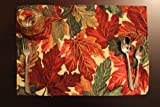 Tache 4 Piece Thanksgiving Leaves Fall Foliage Tapestry Placemat Set