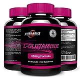 Glutamin, Bestes L-Glutamin, Aminosäurenahrungsergänzung, Kraftvolle Vorteile, Unterstützt Muskelaufbau, Verbesster Kraft und Ausdauer, Verkürzt Erholungsphasen Nach Dem Training, 850 mg, 120 Kapseln