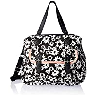 Wild Pair Printed Weekender with Front Pocket Duffle Bag, Black, One Size