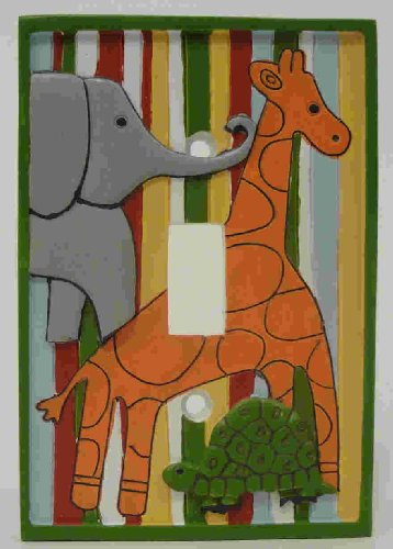 Southern Living Zootopia Switch Plate, Green/White (Discontinued by Manufacturer)
