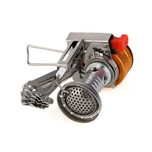 Kingshida Camping Stove, Backpacking Mini Hiking Stove Ultralight Collapsible Stove with Piezo Ignition for Outdoor (Collapsible Camping Stove compare prices)