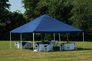ShelterLogic 20 x 20- Feet Canopy 2- Inch 8-Leg Frame, Blue Cover by ShelterLogic