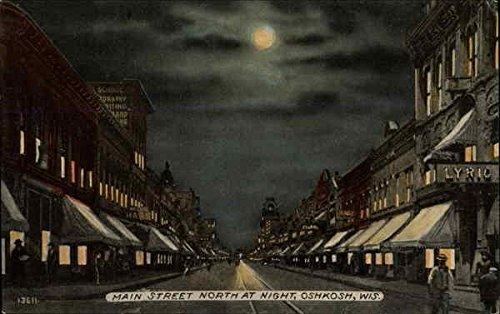 Main Street North at Night in Oshkosh, Wisconsin