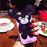 スマホケース スマホカバー iPhoneケース ソフトケース でかケース クマ ベア ヒョウ柄 スター柄 PCDip6p