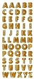 Crystal Stickers Glitter Alphabet 55/Pkg-Gold