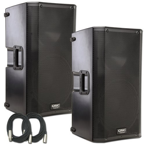 Qsc K12 Speaker Bundle With Cables (Pair)