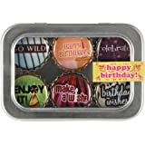 Birthday Bottle Cap 6 pc Magnet Set w/ Case