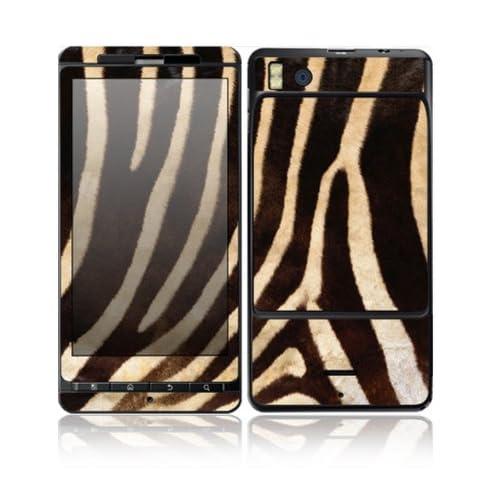 Zebra Print Design Decorative Skin Cover Decal Sticker for Motorola Droid X2 Cell Phone