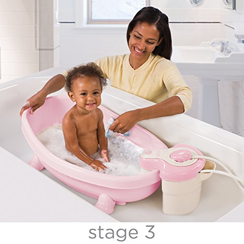 summer infant soothing spa and shower baby bath pink