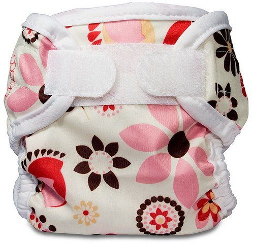 Bummis Super Whisper Wrap Diaper Cover, Bloom, Small front-95440