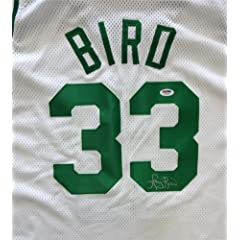 Larry Bird Autographed Hand Signed Boston Celtics White Jersey PSA DNA #T64078