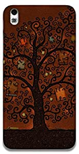 The Racoon Grip The book tree hard plastic printed back case / cover for HTC Desire 816