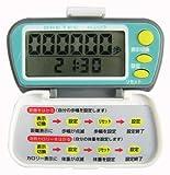 DRETEC 時計・歩行距離・消費カロリー機能付歩数計 ライフウォーカー ホワイト H-223WT