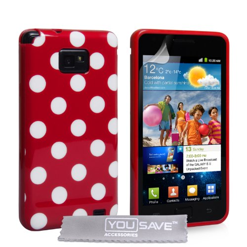 yousave-accessories-samsung-galaxy-s2-case-red-white-silicone-gel-polka-dot-patterned-cover