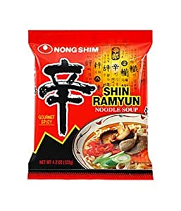 Nongshim Shin Noodle Ramyun Gourmet Spicy, 4.2 Ounce Packages (Pack of 30)
