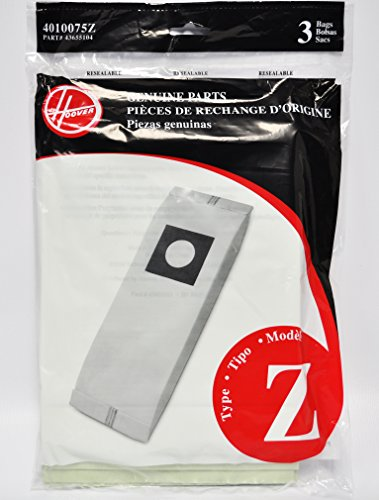 Hoover Type Z Paper Upright Vacuum Bags 3 Pack 4010075Z back-253813
