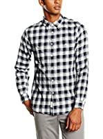 Dockers Camisa Hombre Wrinkle Twill (Azul)
