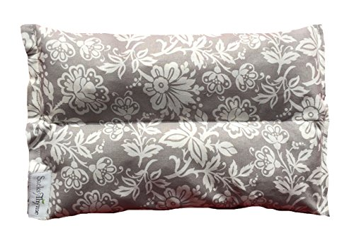 Ultra Premium All Natural Microwavable Aromatherapy Heating Pads - Certified Organic Herbs, Organic Flaxseed & Cherry Pit Filler- Medium- Grey Floral (Rice For Heating Pads compare prices)