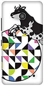The Racoon Grip Over The Moon hard plastic printed back case / cover for Microsoft Lumia 550