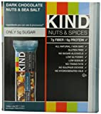 KIND Nuts &amp; Spices, Dark Chocolate Nuts &amp; Sea Salt, 12-Count Bars