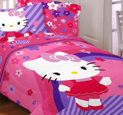 Hello Kitty Bedding Set Twin