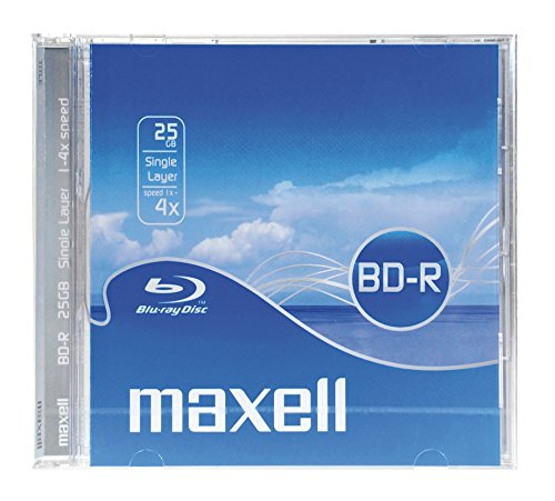 Maxell Pack de 5 Disque inscriptible Blu ray simple face 25 Go