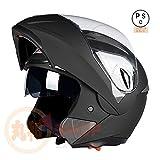 バイクヘルメット システムヘルメット フルフェイス ジェット ダブルシールド 今年バージョンアップBLD158[02.商品2/L]