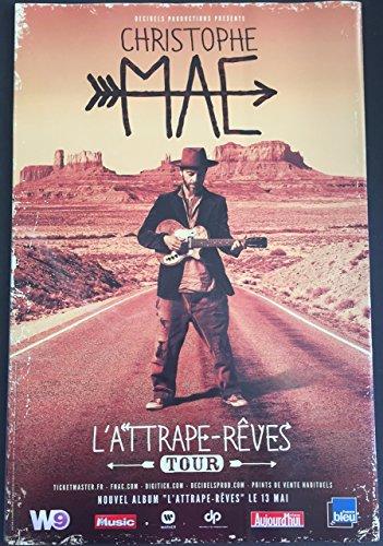 Christophe Maé \ L'Attrape-Rêves Tour - 40x60 cm - AFFICHE / POSTER
