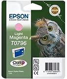 Epson T0796 Original Light Magenta red ink cartridge for Stylus Photo 1400 (Owl)