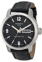 Tissot Men's T0554301605700 PRC 200 Analog Display Swiss Automatic Black Watch