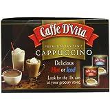 Caffe D'Vita Mocha Cappuccino Sugar Free, 7.5-Gram Single Serve Envelopes (Pack of 24)