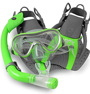 Buy Aqualung Kids Jr Mask Fin Snorkel Set with Snorkeling Bag by U.S. Divers