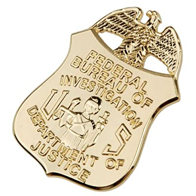 Mini Us FBI Badge Clip Credit Card Holder Department of Justice Badge Clip Gold