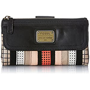 Fossil Emory PW Wallet,Black Multi,One Size