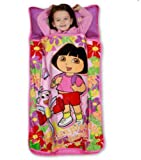 Dora the Explorer quilted Toddler Nap Map - Pillow & Blanket in One