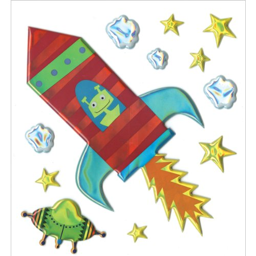 Sticko Big Stickers - Space Ship front-316582