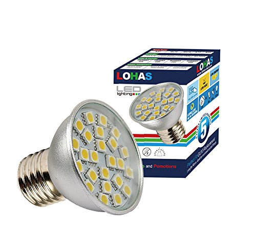 Lohas® 3W Led Smd 5050 Cup Led Bulb E27 With 24 Leds Cool White=30W Halogen Bulb Ultra Bright