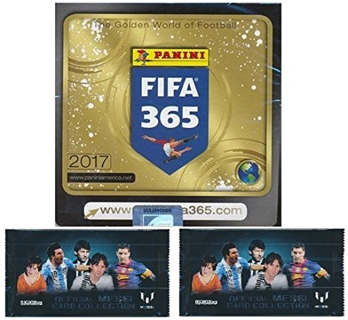 2017 Panini FIFA 365 Stickers MASSIVE 50 Pack Factory Sealed Box with 350 Stickers Plus BONUS (2) LIONEL MESSI Card Packs! Look for Top Soccer Super Stars including Ronaldo, Neymar, Messi & Many More! (Champion Premiere 2 compare prices)