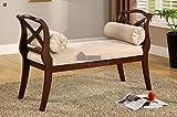 Philipsberg Dark Cherry Accent Bench by Furniture of America