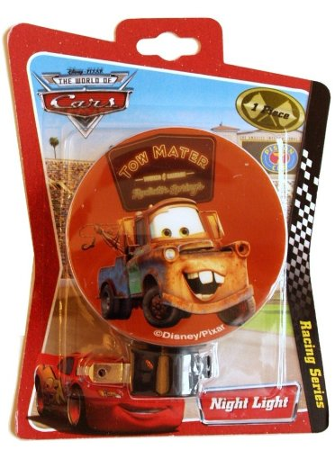 Disney's World of Cars Tow Mater Lighting McQueen Racing Series Night Light for Bedrooms, Bathrooms, Hallway's, Foyer's and Kitchens