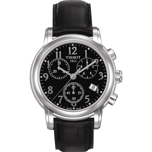 Tissot ladies watch Black dial Leather band T050.217.16.052.00