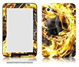 Bundle Monster Samsung Galaxy Tab 7.0 Vinyl Skin Cover Art Decal Sticker Protector Accessories - Ring of Fire