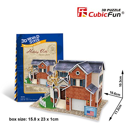 CubicFun 3D Puzzle World Style-Series ''American Flavor - Holiday Villa'' - 1