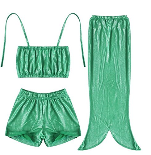 Mermaid Costume + Swimsuit Bath Time Dress-Up Set