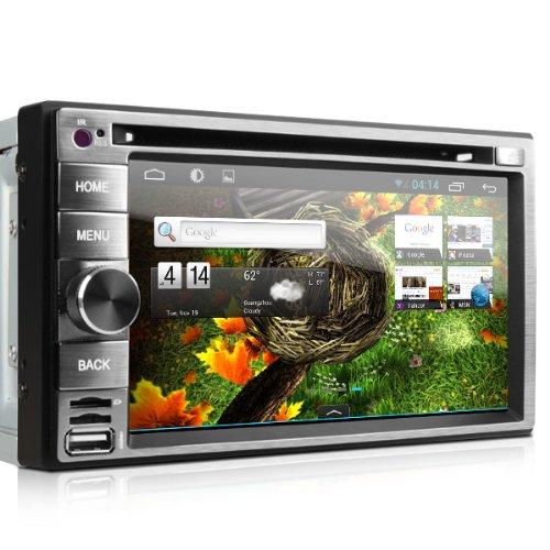 新 XTRONS Android4.1 静電式マルチタッチ 6.2インチ 2DIN  一体型カーオーディオ 車載PC DVDプレーヤー 3G WIFI GPS ブルートゥース iPod対応 USB TF(TD630A)