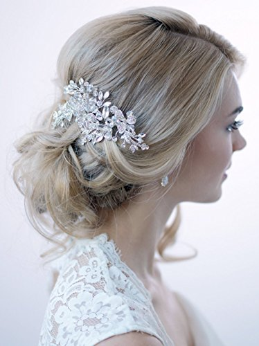 USABride Swarovski Crystal Rhinestone Bridal Clip Wedding Comb Hair Accessory TC-2265