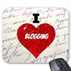 SudysAccessories I Love Blogging Fabric Mousepad – Designer Mousepad