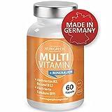 Multivitamin A-Z Komplex und Mineralstoffe hochdosiert - Multimineral Tabletten - Monats-Vitamin-Kur...