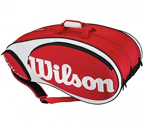 Wilson Schlägertasche Tour 12pk Rdwh, rot/weiß, WRZ844212